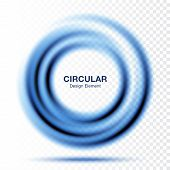 Vortex Gradient Round Banner. Text Presentation Layout. Abstract Blue Swirl Circle Frame Isolated On poster