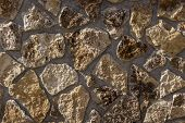 Natural Slate Stone Background, Natural Slate Stone Texture, Old Stone Masonry Wall Texture Backgrou poster