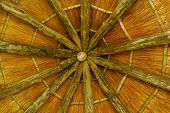 Thatched roof (inside)