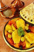 picture of tagine  - Moroccan chicken tagine - JPG