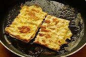 stock photo of matzah  - Fried matzo  - JPG