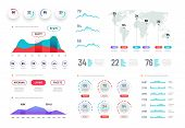 Dashboard Graphs. Hud Info Screen, Futuristic Interactive Interface With Charts And Diagrams. Abstra poster