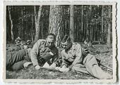 foto of army cadets  - Vintage photo of soldiers - JPG
