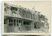 WW2 destruction after bombing, Germany, forties