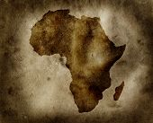 image of north sudan  - Grungy Africa map - JPG