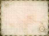 Vintage burnt blank treasure map background poster