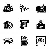 Motor Insurance Icons Set. Simple Set Of 9 Motor Insurance Icons For Web Isolated On White Backgroun poster