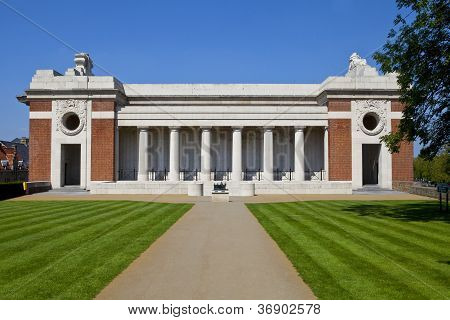 Side View Of The Menin Gate In Ypres