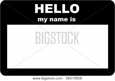 Name Tag - HELLO my name is
