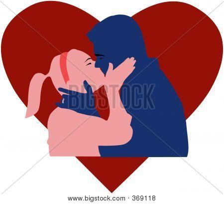 Couple Kissing 2