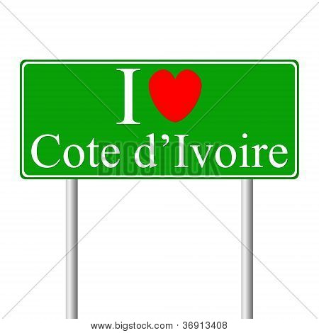I Love Cote D'ivoire, Concept Road Sign