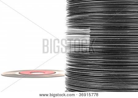 Vinyl Records Pile
