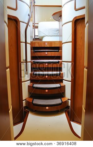 Ladder Of Luxury Yacht