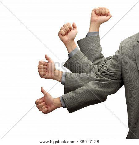 Businessman Thumbs Up Success