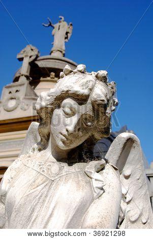 Estátuas no cemitério da Recoleta