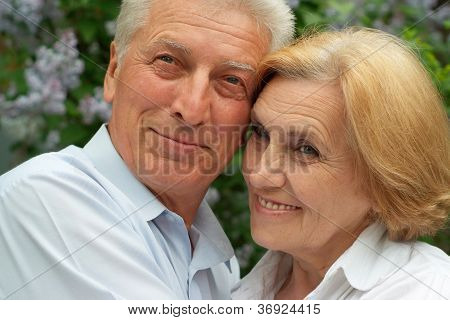 Beautiful couple enjoy union with nature