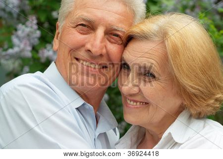 Beauteous couple enjoy union with nature