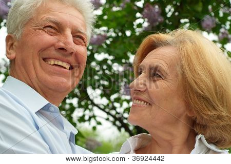 Charming couple enjoy union with nature
