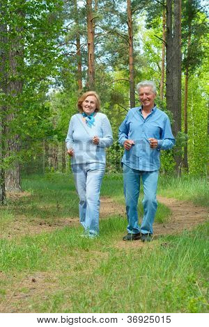 Great older people are enjoying the fresh air