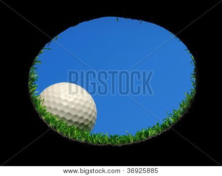 Golf Ball Over Hole