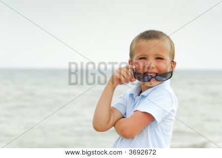 Boy With Black Sunglasses