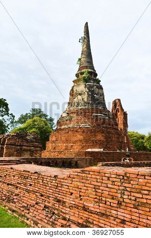The Pagoda  In Ayutthaya