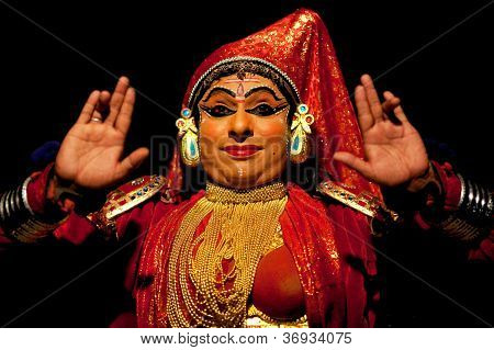 Kathakali performer, India