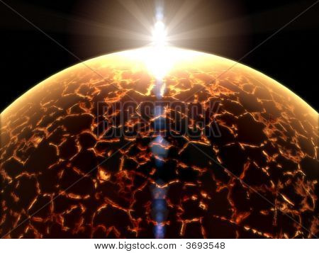 Alien Fantasy Unknown Sun In Empty Space