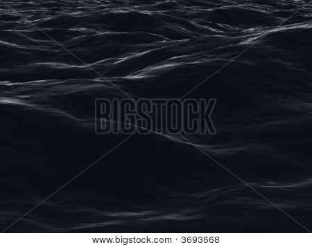 Dark Ocean Surface Waves In Night Sight