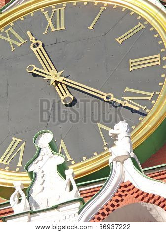 Tower Clock In Moscow