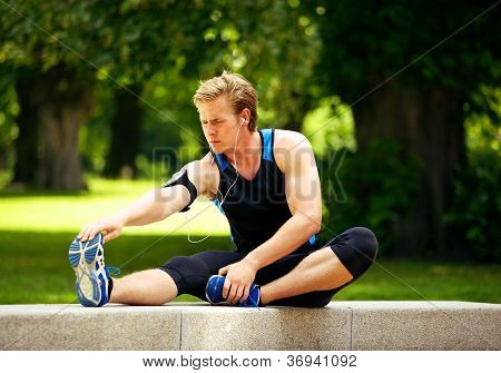 Man Warming Up Before Exercise