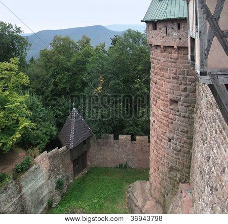 Courtyard Of The Haut-koenigsbourg Castle
