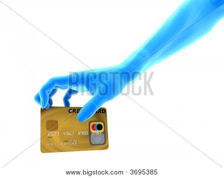Agarrar la tarjeta de crédito
