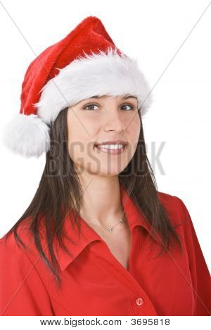 Santa Girl Portrait
