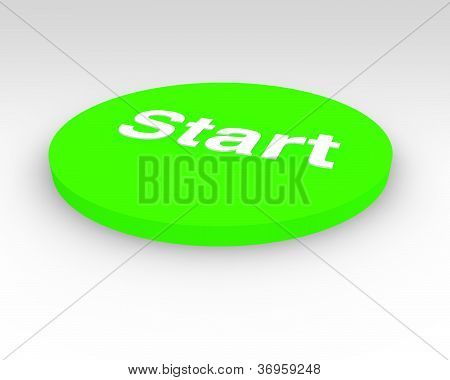 Green Start Pushbutton