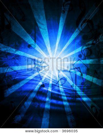 Blue Music Sheet