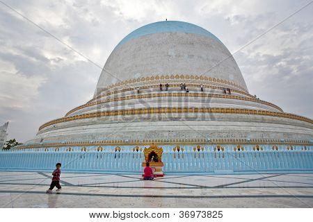 Kaunghmudaw Pagoda In Sagain, Burma