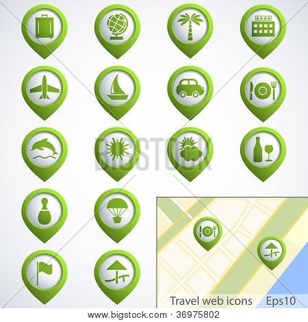 Travel Web Buttons Set