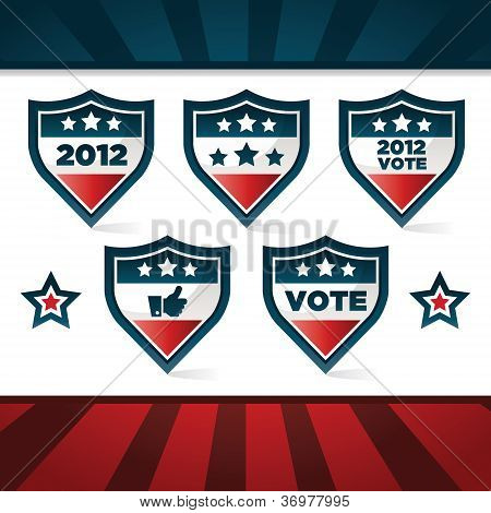 Patriotic Voting Shields
