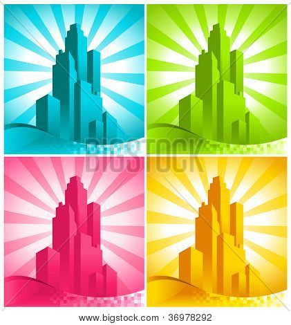 Colorful Skyscrapers