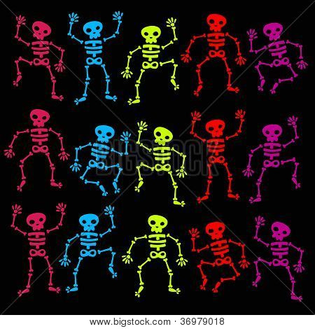 Colorful Dancing Skeletons