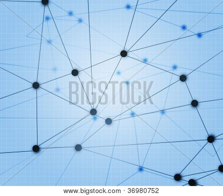 Blue Network Background