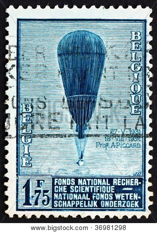 Postage Stamp Belgium 1992 Auguste Piccard's Balloon