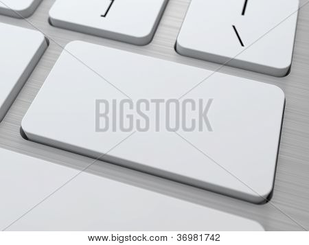 Blank Button on Modern Computer Keyboard.