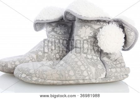 Comfortable Warm Furlined Slippers