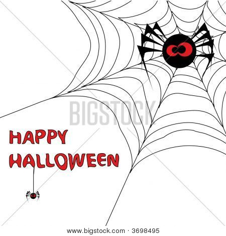 Halloween Background With Spider\\\'S Web 3.