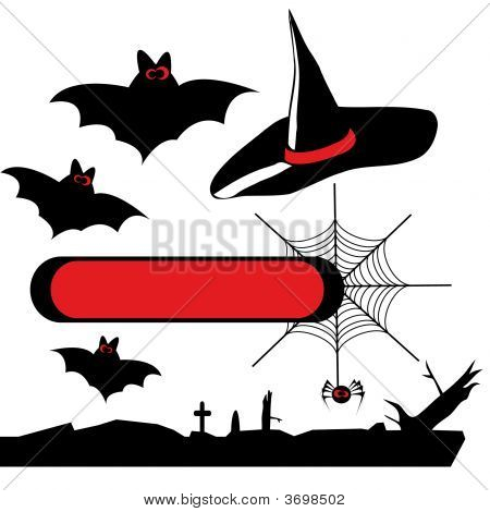 Set Of Vector Halloween Silhouettes 2