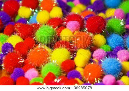 Coloured Shiny Foam Balls