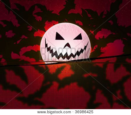 Red Halloween Background