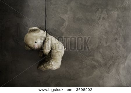 Old Teddy Bear Toy Hanging